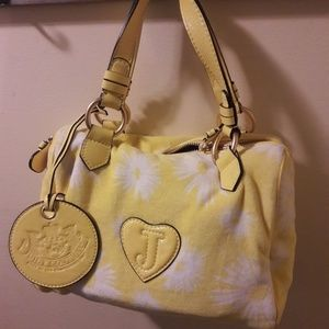 Juicy Couture yellow shoulder purse